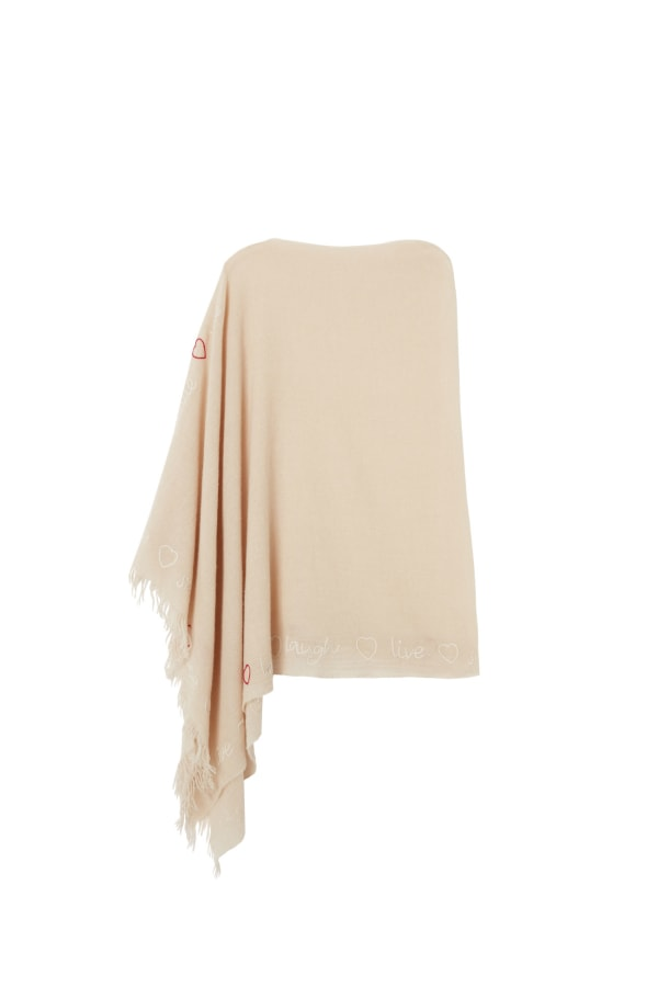 Embroidered Shrug | Beige | Bamford