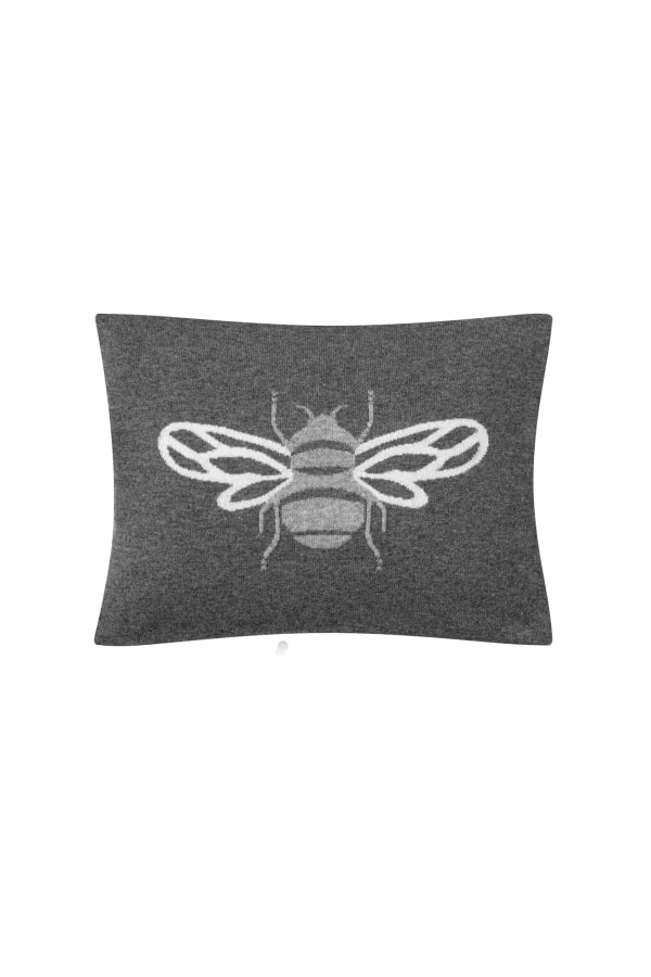 BUMBLE CUSHION GREY FRONT
