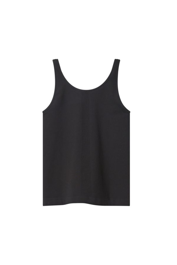 SEAMLESS VEST TOP black back