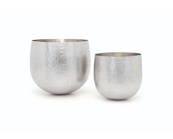 Hammered Silver Chaser Cups