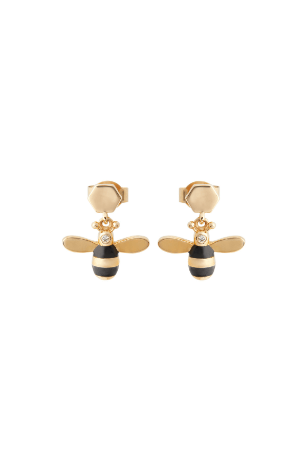 BEE-&-HEXAGON-EARRING-PAIR