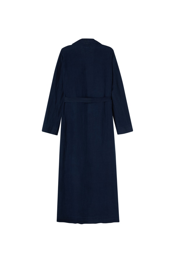 DRESSING GOWN NAVY BACK