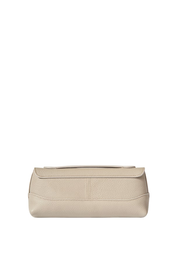 SMALL TOP HANDLE POUCH TAUPE