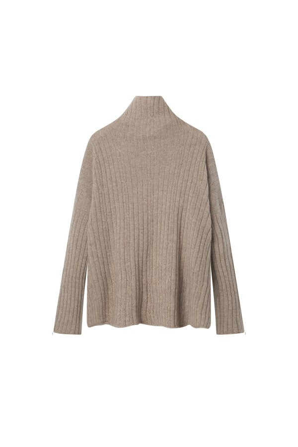 Bamford | Hush Funnel Sweater Brown