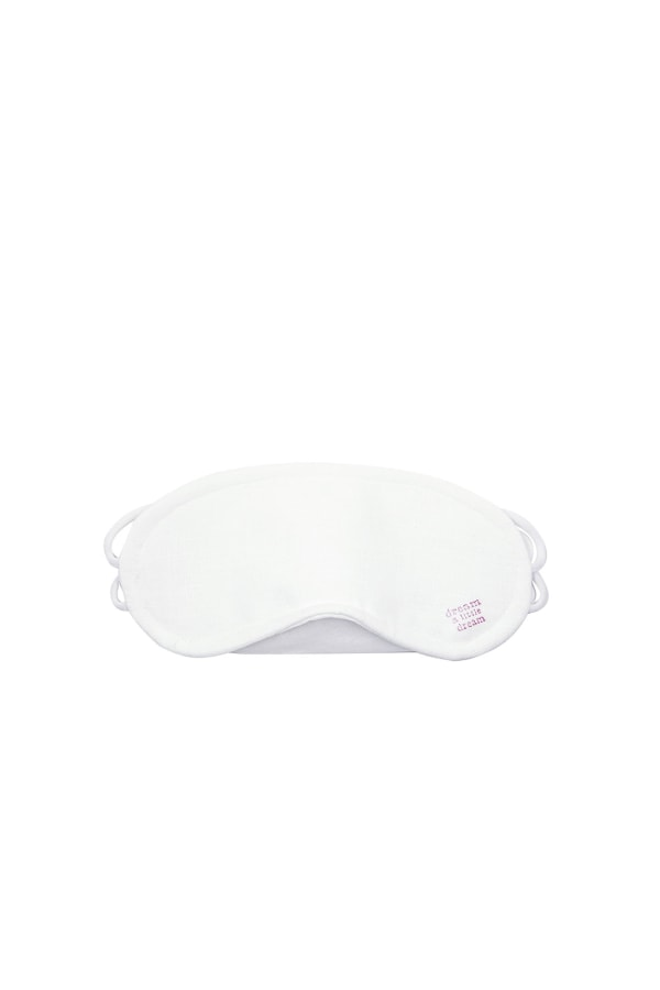 WHITE LINEN EYE MASK