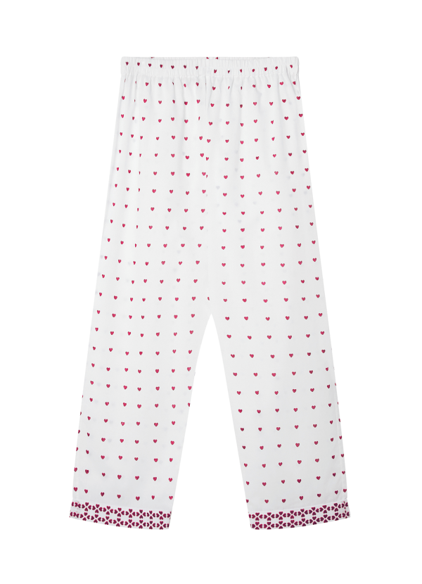 Hearts PJ Bottom Strawberry Front