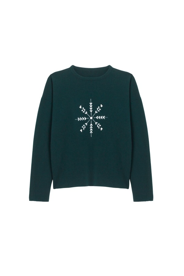 AN0014 WOMENS-CHRISTMAS-SWEATER FRONT