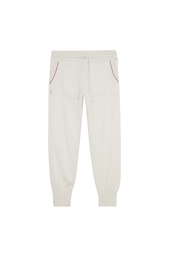Lounge Pant Ivory FrontAlt