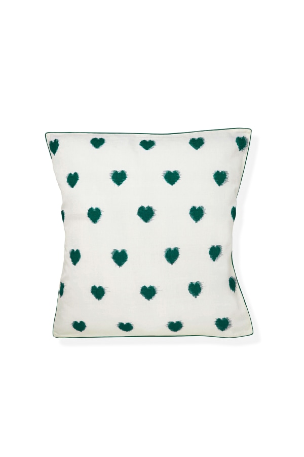 Ikat Heart Cushion