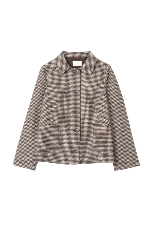 MAKAY-RELAXED-BLAZER PEAT-MIX FRONT web-ready