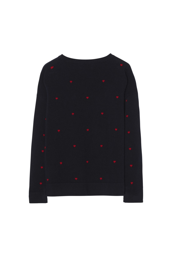 HEARTS SWEATER back