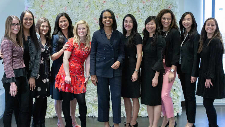 <p>Our Client Relationship Group recently hosted Secretary Condoleezza Rice and Deborah Rosado Shaw as part of our Women's Leadership Development series and welcomed clients to join.</p>