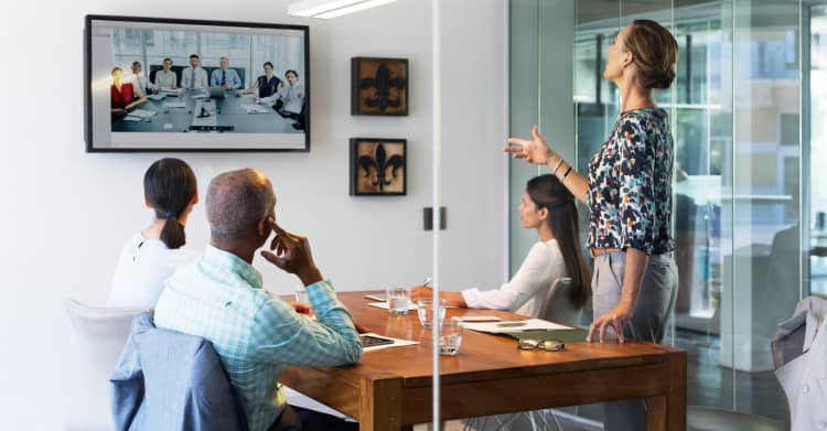 Photo of a meeting in a conference room