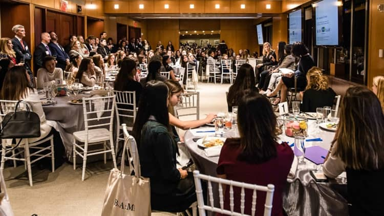 <p>We were honored to partner withUBSon a young women's dinner in support of 100 Women in Finance. The event featured a panel with BAM and UBS representatives and was held in support of the group's 2019 theme of Investing in the Next Generation.</p>