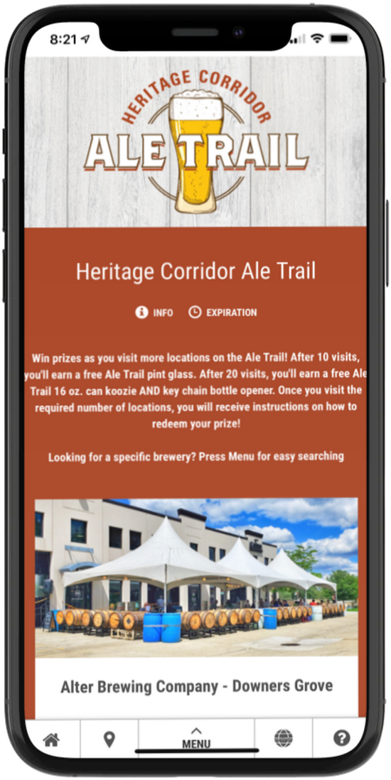 Heritage Corridor Ale Trail Digital Passport - screenshot