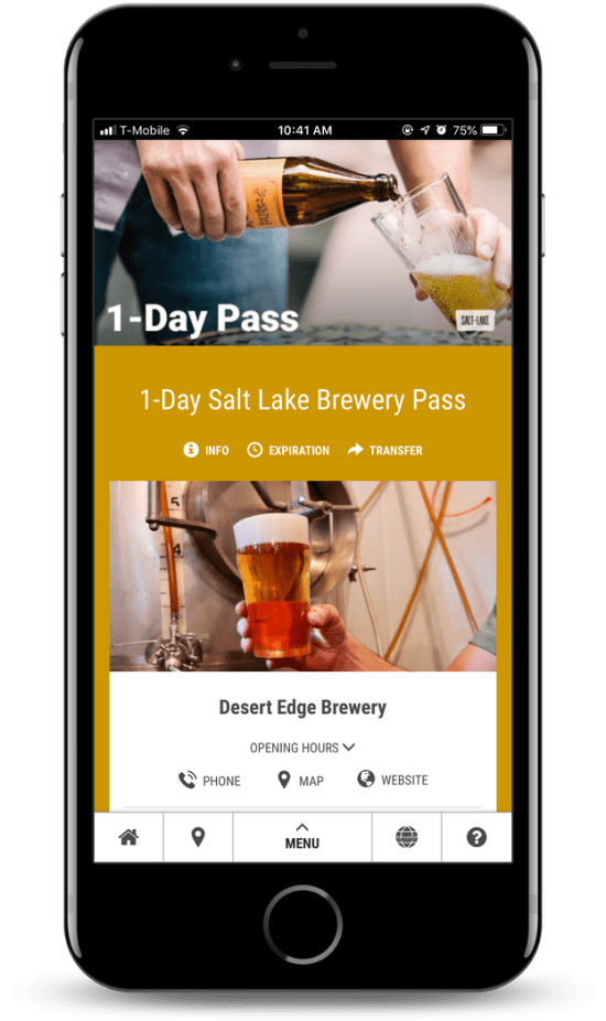 Salt Lake Brewery Mobile Pass