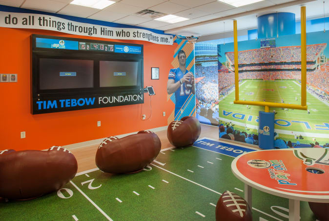 Wolfson Children's Hospital Child Life Football-Themed Playroom