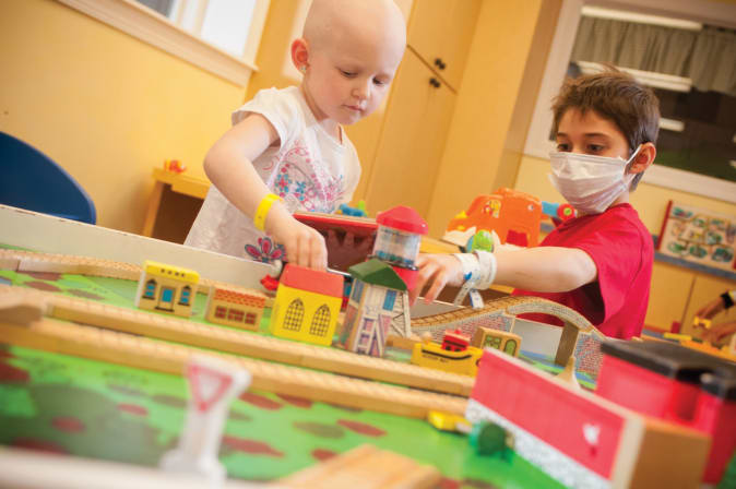 Wolfson Children's Hospital Child Life Train-Themed Playroom