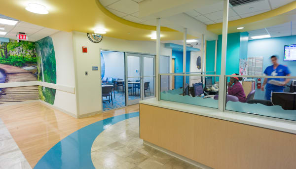 Wolfson Children's Hospital reception desk