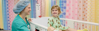 A child receives care at Wolfson Children's Hospital