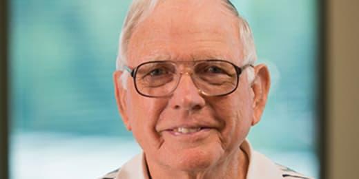 patient David Bussey smiling