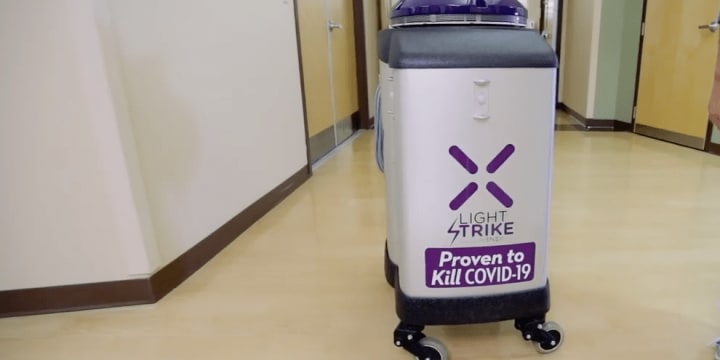 COVID-19 cleaning robot
