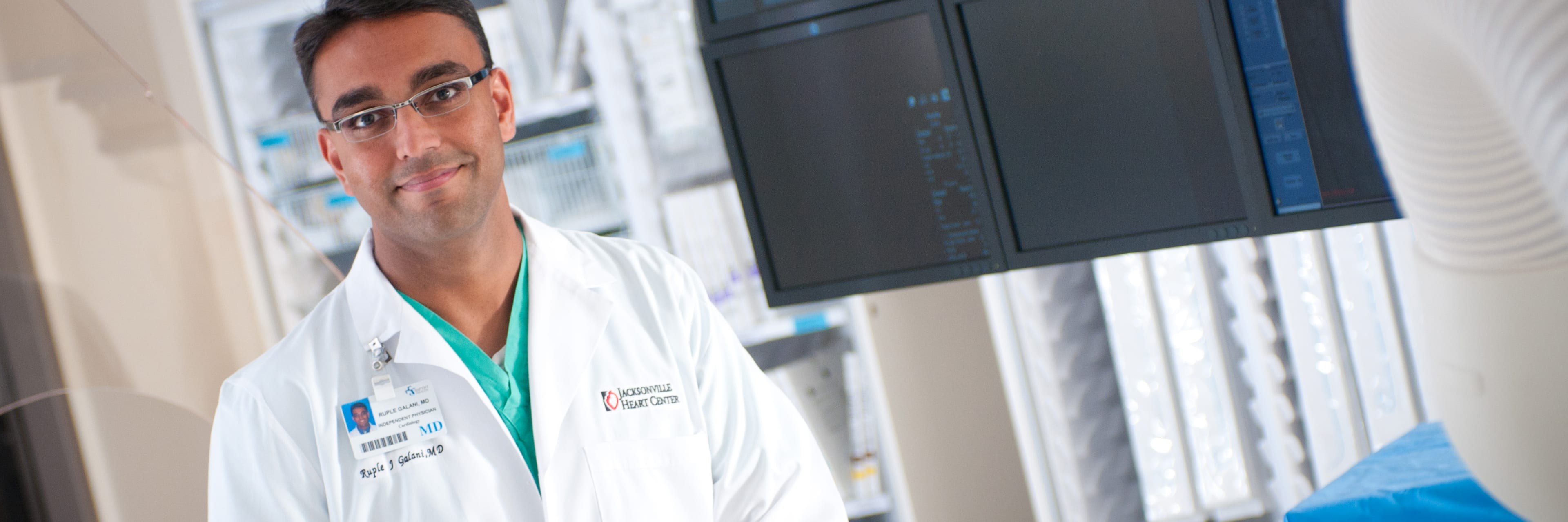baptist heart specialist in front of monitor