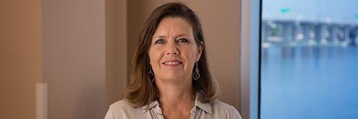 patient Joy Seiler smiling