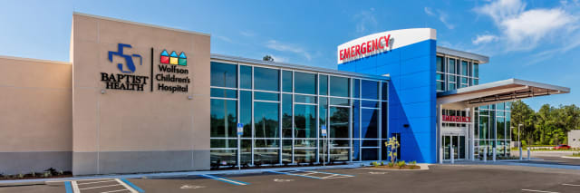 photograph of emergency room exterior at town center