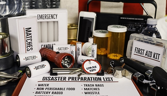 disaster preparation items