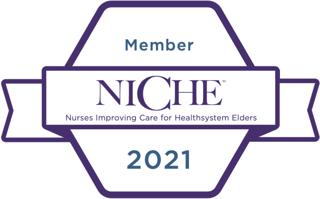 NICHE logo that stands for Nurses Improving Care for Health System Elders