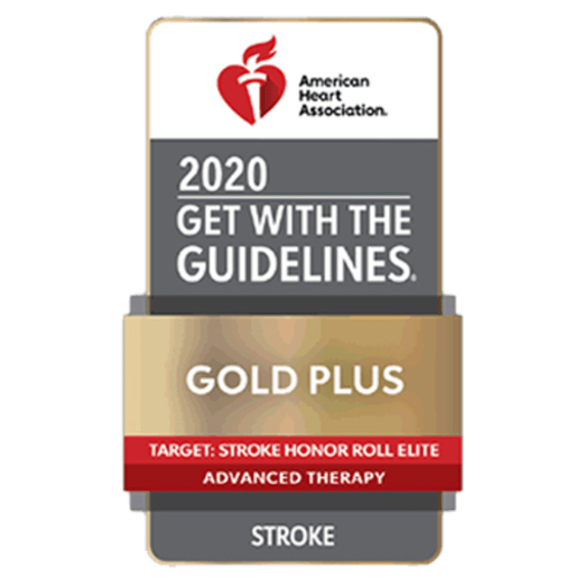 Stroke Gold Plus Honor Roll Elite with Advanced Therapy Achievement Award