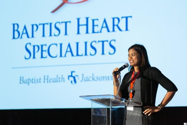 Dr. Satpathy presenting at a seminar