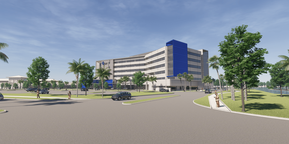 rendering of clay county hospital
