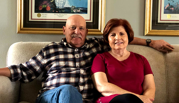 A lung cancer screening helped Phil Mahaffey catch his lung cancer early.