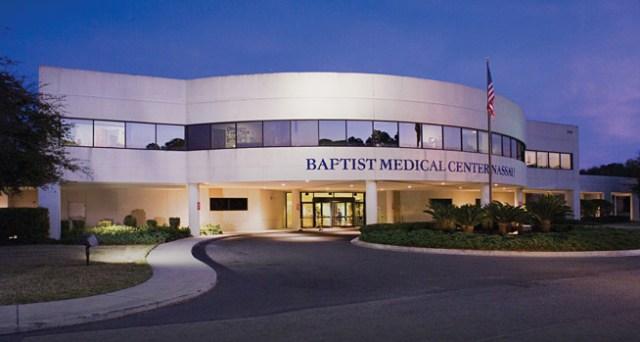 exterior of the front entrance at Baptist Medical Center Nassau