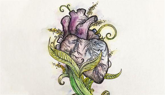 Marissa's heart artwork