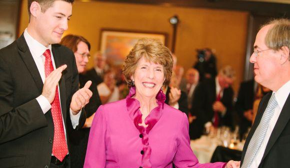 Connie Hodges at retirement celebration