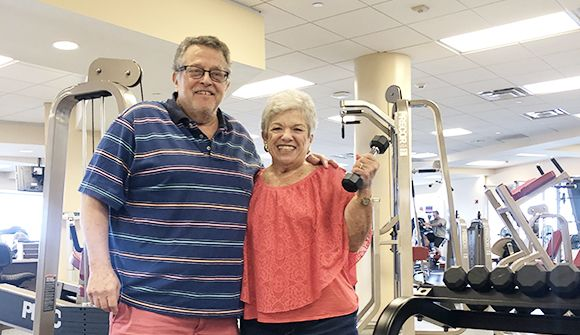 Photo of cardiac rehab couple