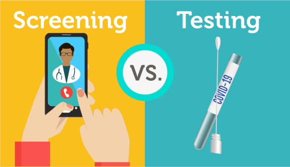 covid19 coronavirus screening vs testing