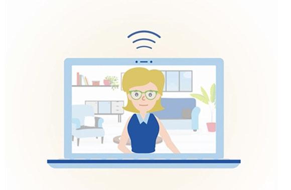 patient doing virtual visit