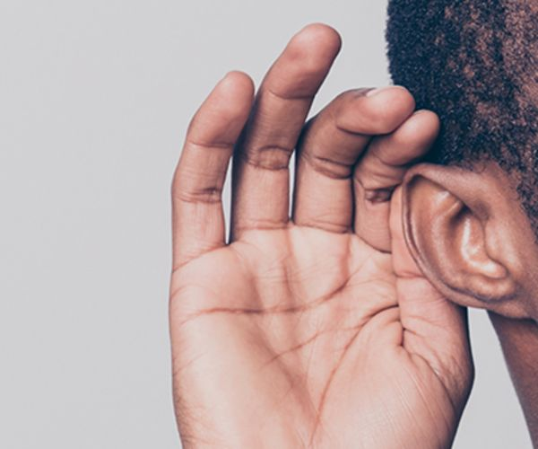 man and ear
