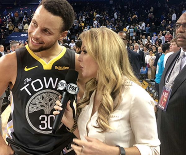 Steph Curry being interviewed