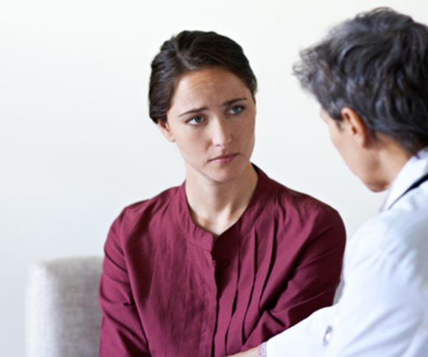 Patient with therapist