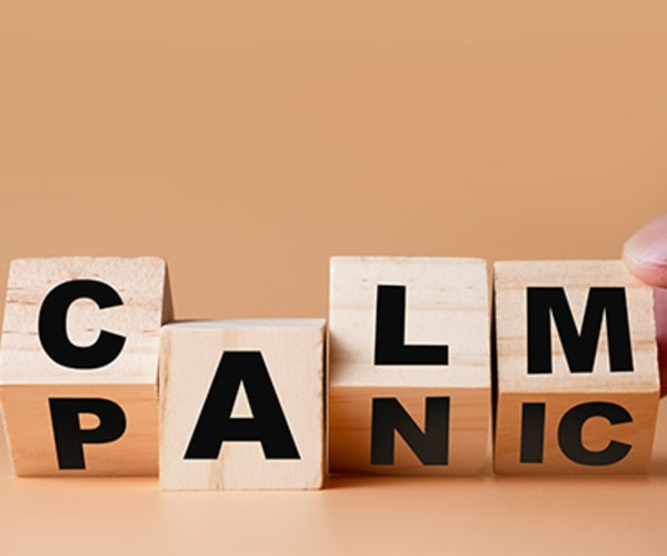 blocks that say calm and panic