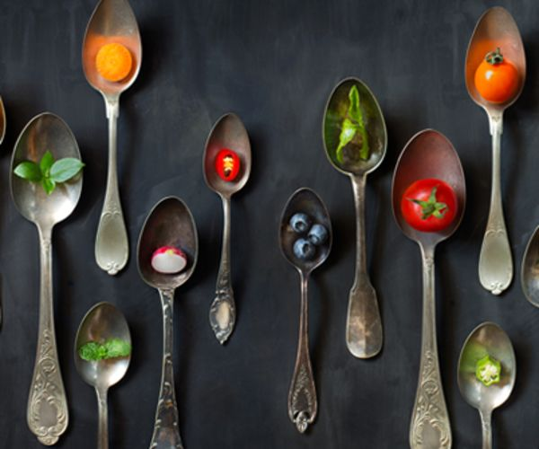spoons with superfoods
