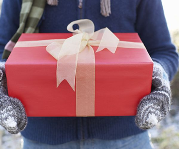 Red gift with bow