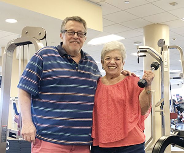 Photo of cardiac rehab couple