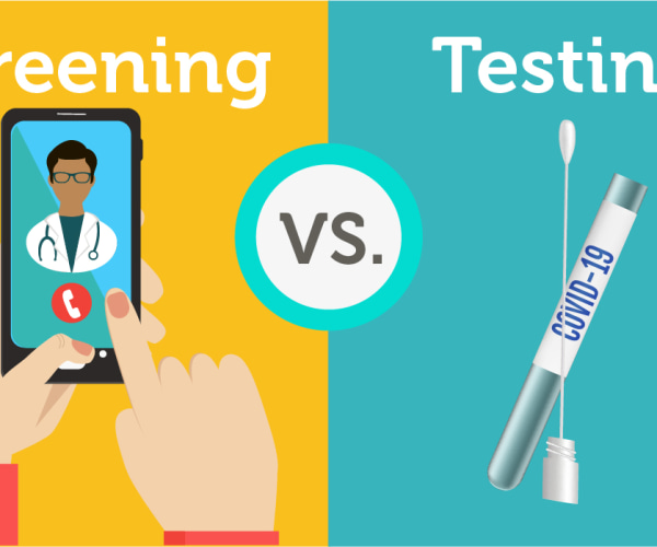 covid19 coronavirus screening vs testing