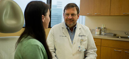 physician talking with patient